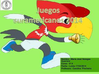 Nombre : María José Venegas Guerrero Curso : 6º A Fecha : Lunes 17/03/2014