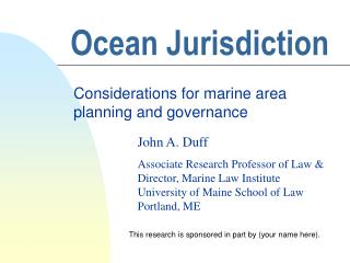 Ocean Jurisdiction