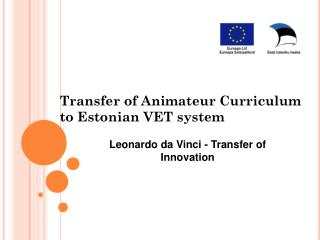 Transfer of Animateur Curriculum to Estonian VET system