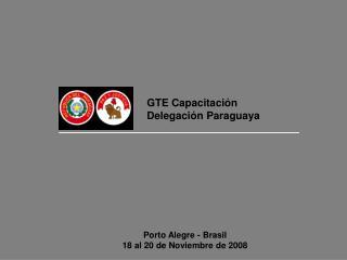 GTE Capacitación  Delegación Paraguaya