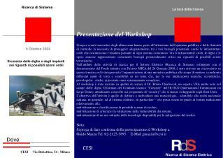 Presentazione del Workshop