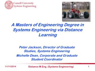 A Masters of Engineering Degree in Systems Engineering via Distance Learning