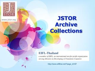 JSTOR  Archive Collections