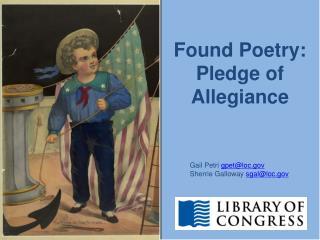 Found Poetry:  Pledge of  Allegiance