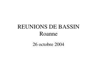 REUNIONS DE BASSIN Roanne