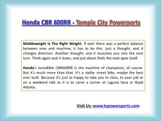 Honda CBR 600RR - Temple City Powersports