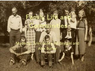 Family Life and Communities