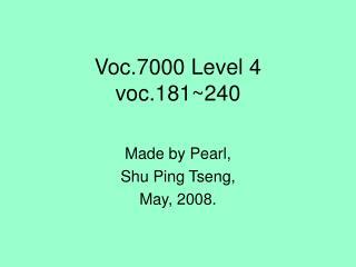Voc.7000 Level 4 voc.181~240