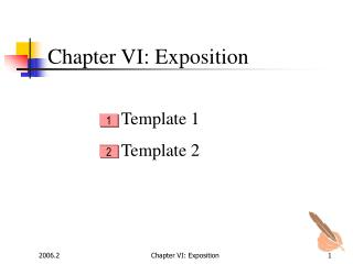 Chapter VI: Exposition