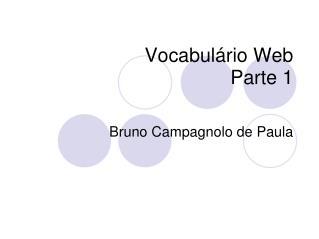 Vocabulário Web  Parte 1