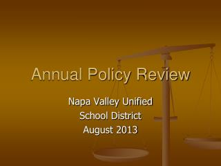 Annual Policy Review