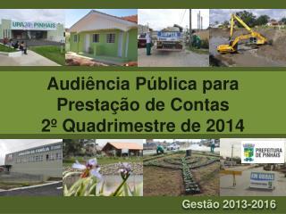 Audiência Pública para Prestação de Contas 2º Quadrimestre de 2014