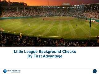 Little League Background Checks By First Advantage