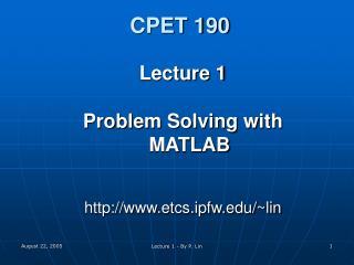 CPET 190