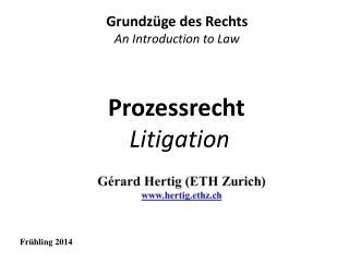 Prozessrecht Litigation