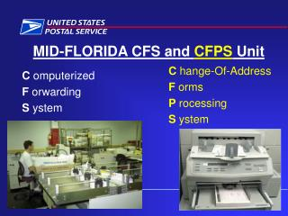 MID-FLORIDA CFS and CFPS Unit