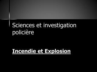 Sciences et investigation policière