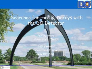 Searches for rare B s  Decays with the DØ Detector