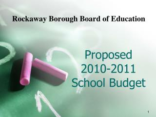 Proposed 2010-2011  School Budget