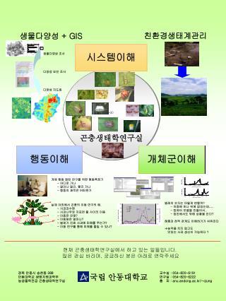경북 안동시 송천동  388 안동대학교 생명자원과학부  농생물학전공 곤충생태학연구실