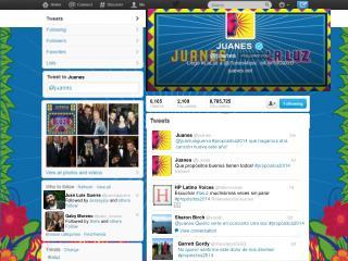Juanes @ juanes follows you Lleg�  # laluz  @ itunes