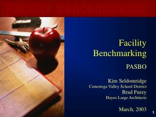 Facility Benchmarking PASBO Kim Seldomridge Conestoga Valley School District Brad Furey