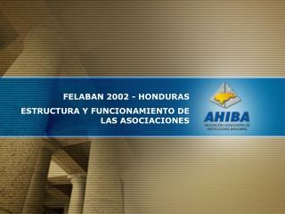 FELABAN 2002 - HONDURAS ESTRUCTURA Y FUNCIONAMIENTO DE LAS ASOCIACIONES