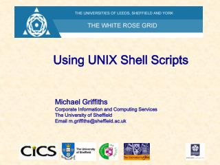 Using UNIX Shell Scripts