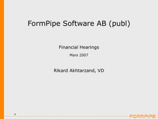FormPipe Software AB (publ)