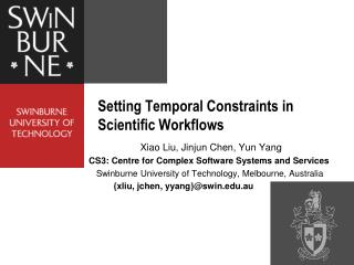 Setting Temporal Constraints in Scientific Workflows