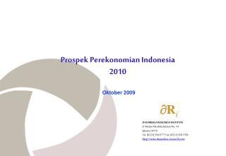 Prospek Perekonomian Indonesia 2010