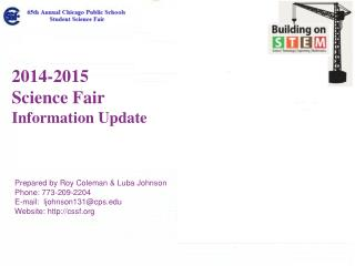 2014-2015 Science Fair  Information Update