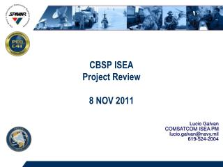 CBSP ISEA Project Review  8 NOV 2011