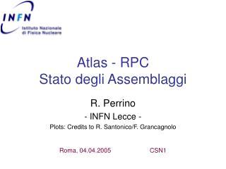Atlas - RPC Stato degli Assemblaggi