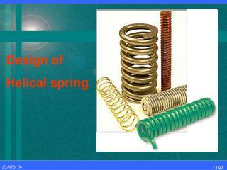 Design of Helical spring