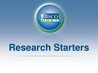 Research Starters