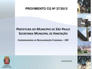 PROVIMENTO CG Nº 37/2013