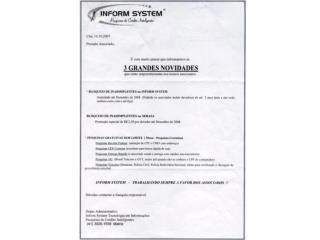 Preço: Inform System:  R$ 0,49 SPC:  R$ 0,15