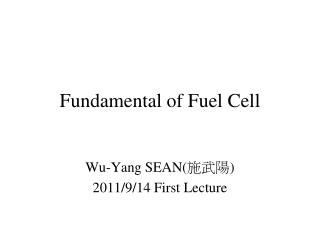 Fundamental of Fuel Cell
