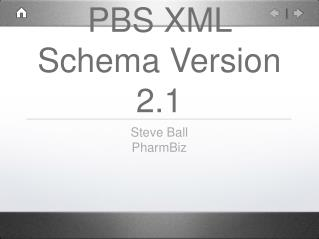 PBS XML Schema Version 2.1