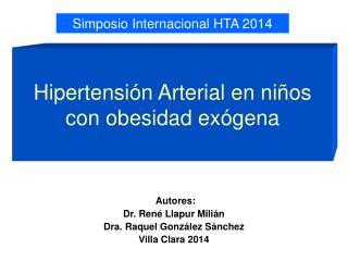 Hipertensión Arterial en niños con obesidad exógena