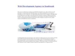 Web Development Agency in Southwark