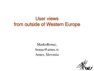 User views  from outside of Western Europe