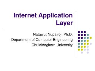 Internet Application Layer
