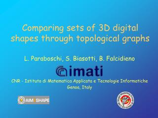 Comparing sets of 3D digital shapes through topological graphs