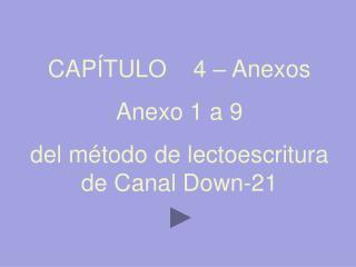 CAP TULO    4   Anexos Anexo 1 a 9 del m todo de lectoescritura de Canal Down-21
