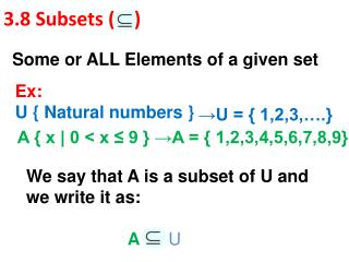 3.8 Subsets (    )