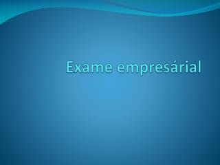 Exame  empresárial