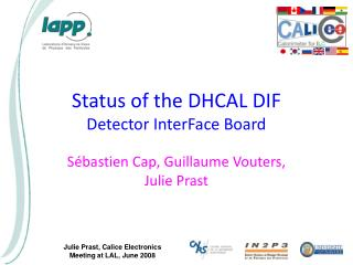 Status of the DHCAL DIF Detector InterFace Board