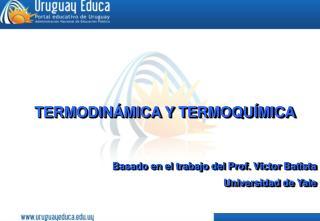 TERMODIN�MICA Y TERMOQU�MICA